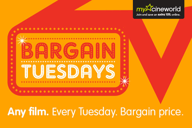 Cineworld Bargain Tuesdays