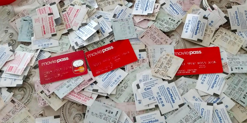 Tracey Trevino's MoviePass stubs. (photo: Tracey Trevino)