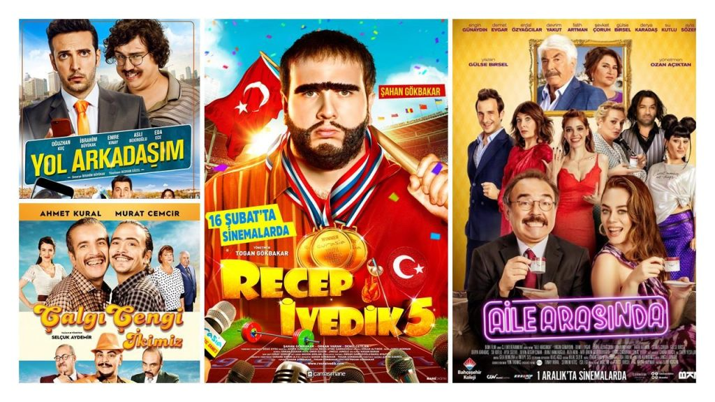 Top domestic Turkish films in 2017. (image: Ministry of Culture Turkey)