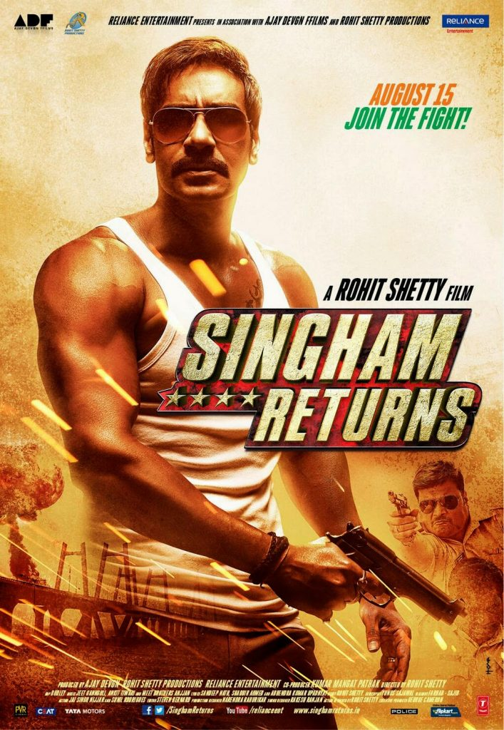 "Ajay Devgn in ""Singham Returns"""