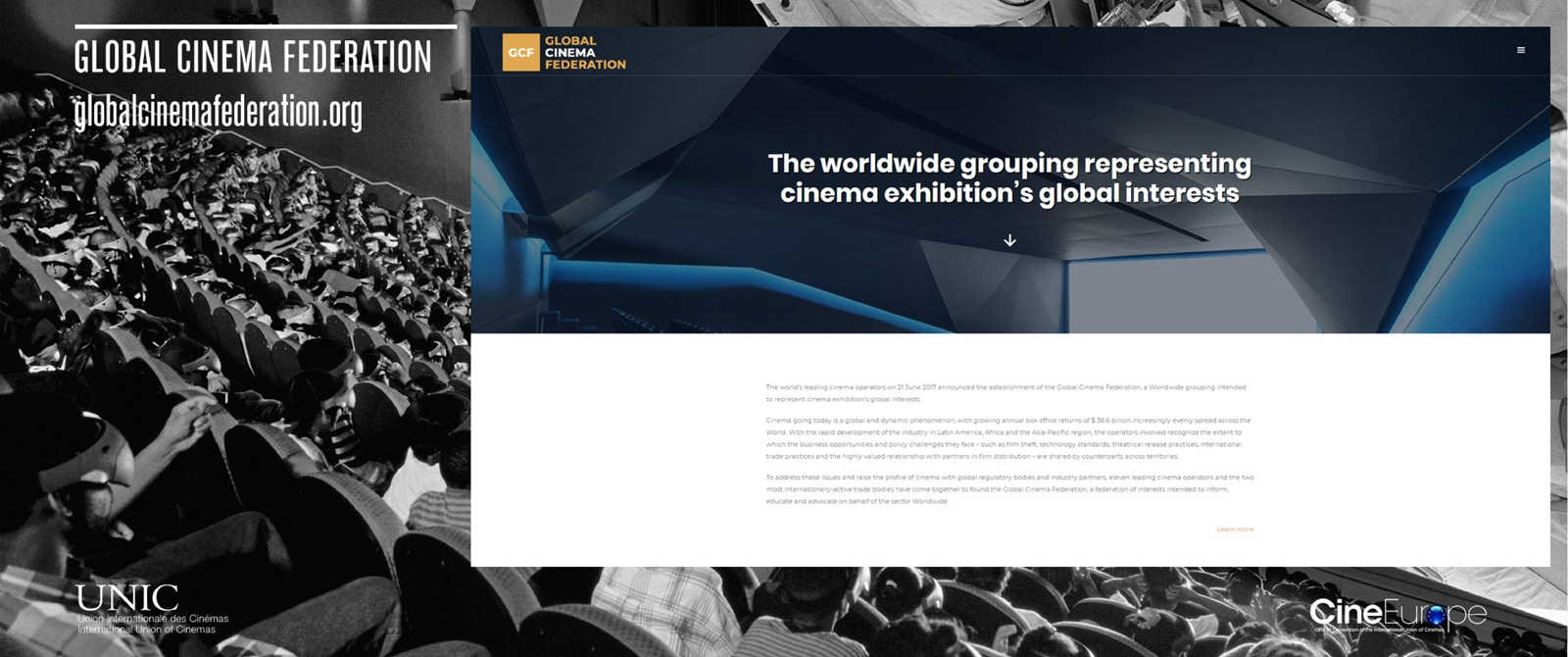 CineEurope 2018 Keynote - Global Cinema Federation