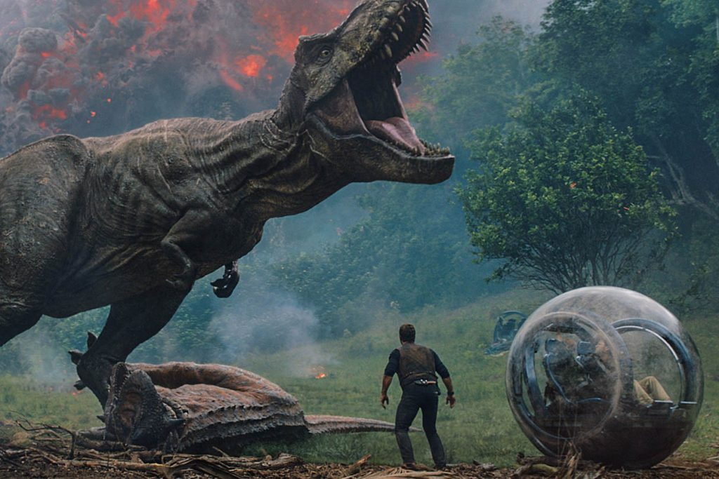 "Roaring at the box office; ""Jurassic World: Fallen Kingdom"" (photo: Universal)"