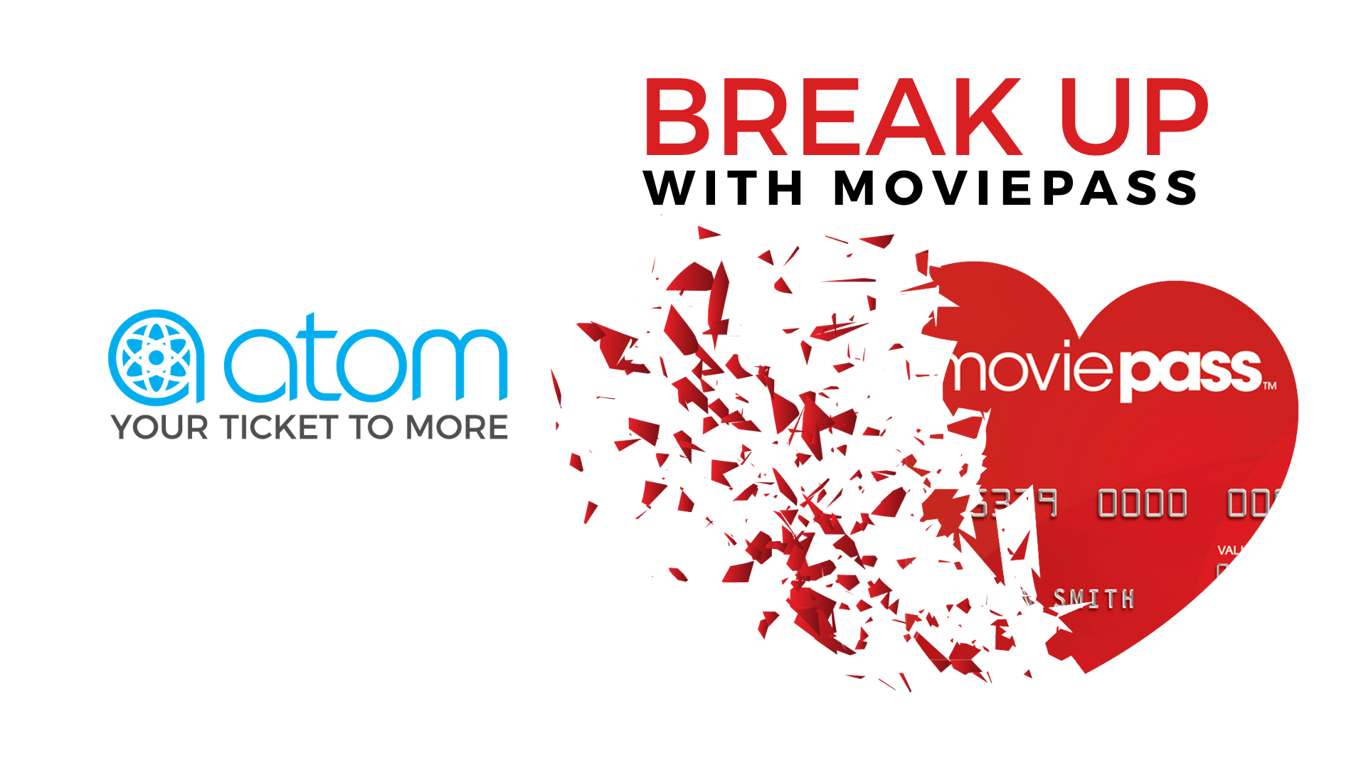"Atom Tickets Launches ""Break Up Sweepstakes"" For Heart"