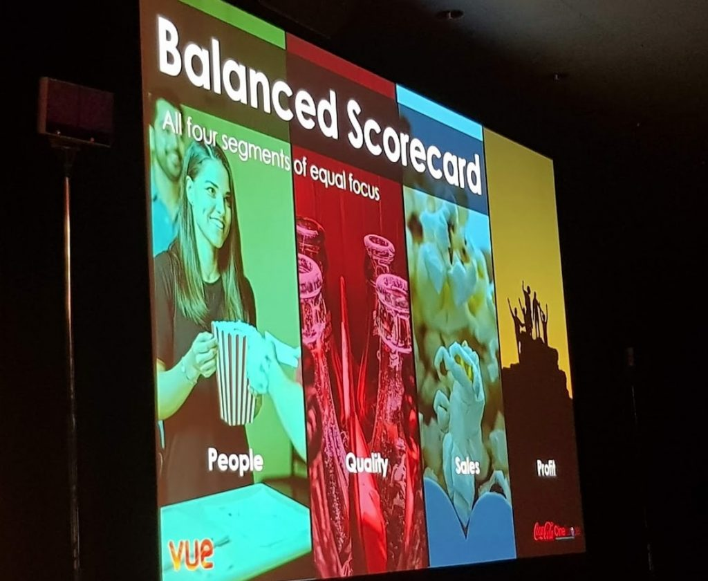 Vue's Balanced Scorecard at CineEurope 2018. (photo: Patrick von Sychowski / Celluloid Junkie)