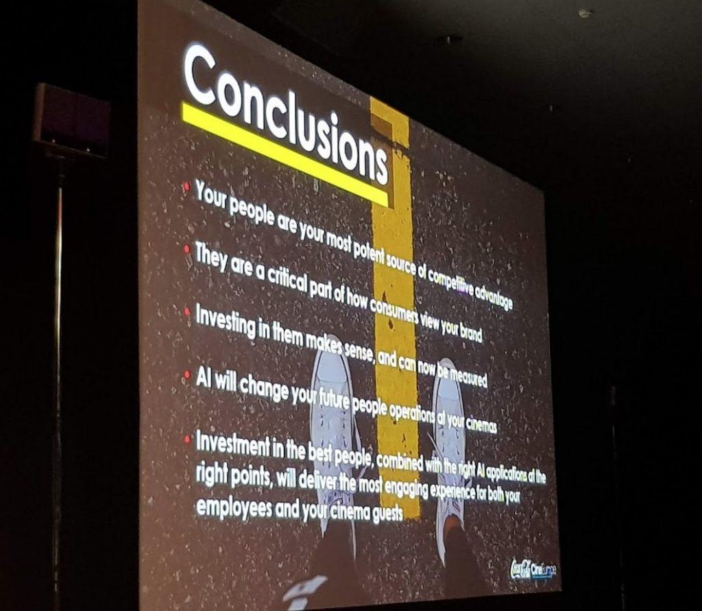 Conclusions of Coke's CineEurope panel 2018. (phoot: Patrick von Sychowski / Celluloid Junkie)