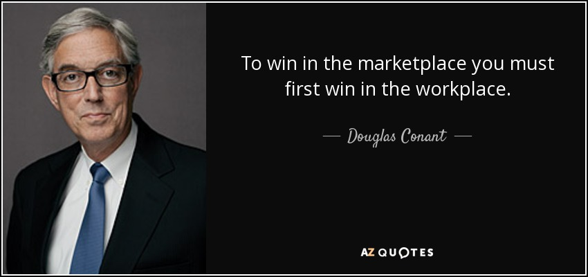 Inspiring quote on HRT: Dougal Conant.