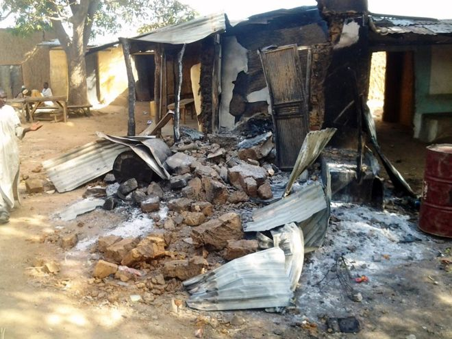 The cinema village hall in Zamfara State that was attacked. (photo: BBC / AFP)