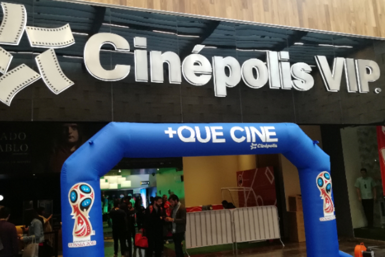 Cinepolis +Que Cine during the World Cup 2018. (photo: Cinepolis)