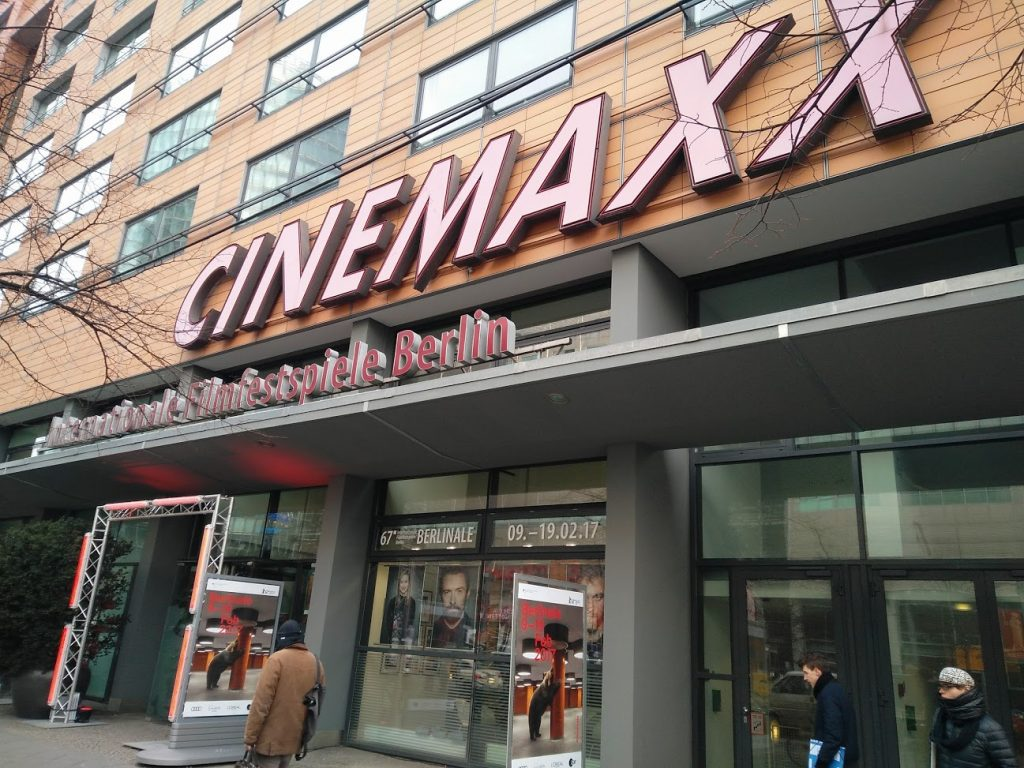CinemaxX across the road from CineStar in Potzdammer Platz, Berlin. (photo: Patrick von Sychowski / Celluloid Junkie)