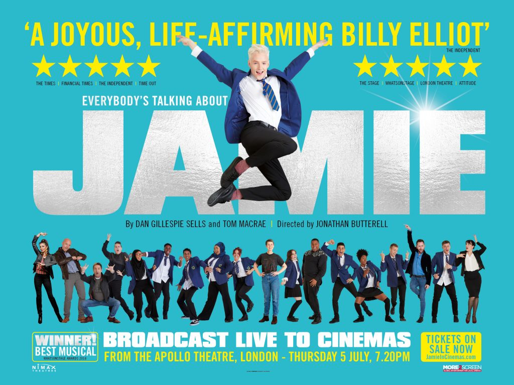 'Everybody is talking about Jamie' poster.