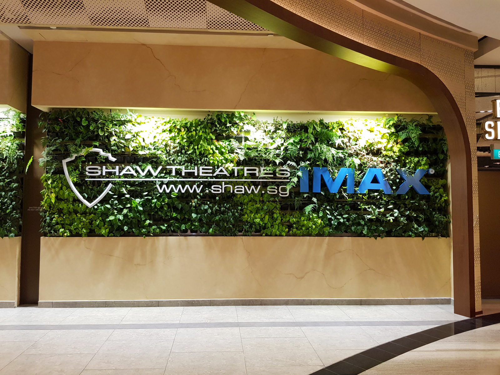 Shaw Theatres Jewel at Changi Airport in Singapore