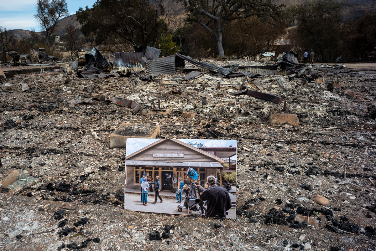 Paramount Ranch - General Store After Woolsey Fire