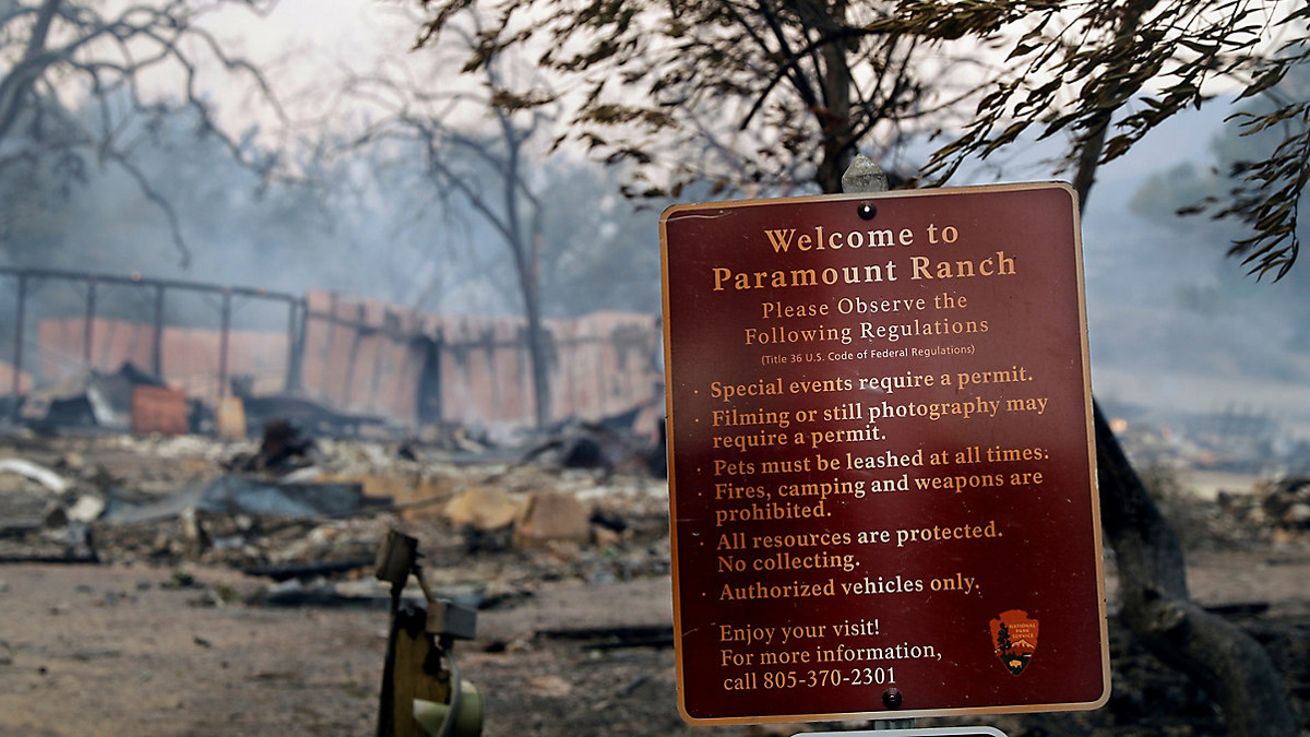 Paramount Ranch - After the Woolsey Fire