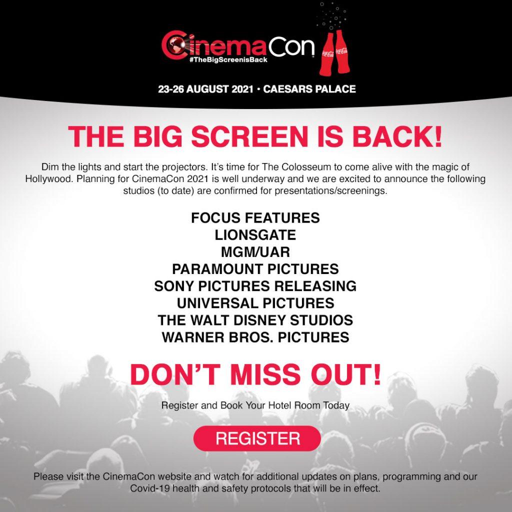 CinemaCon 2021 Studio Announcement