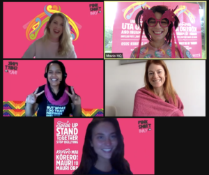 The global Vista Group team took part in Pink Shirt Day, an anti-bullying initiative (credit: Vista Group)