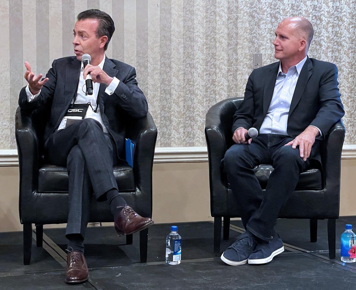 CinemaCon 2021 - Globally Speaking Panel - Alejandro Ramirez Magana, CEO of Cinepolis, Mark Viane, President of International Theatrical Distribution at Paramount Pictures