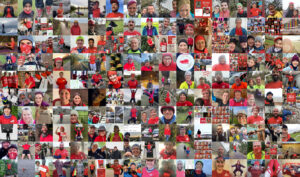 """RED January's """"RED-ers"""" community - the organisation promotes exercise to combat mental health struggles (credit: RED January)"""